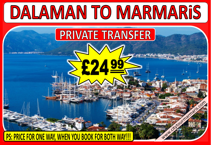 Dalaman Airport to Marmaris Transfer Time