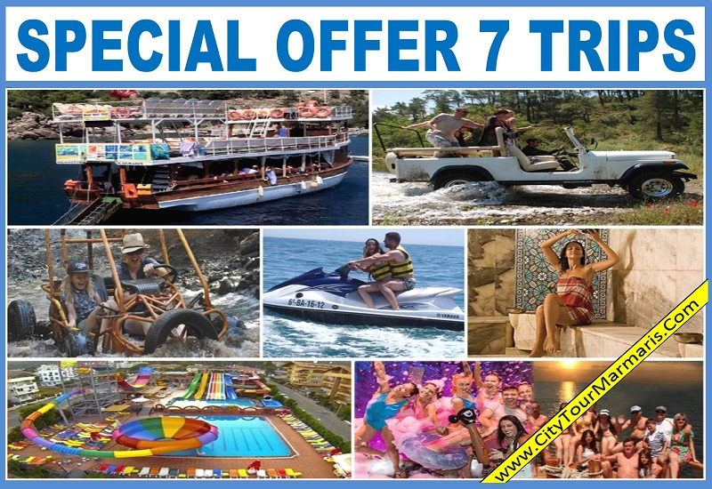 Marmaris Excursions 7 Trips