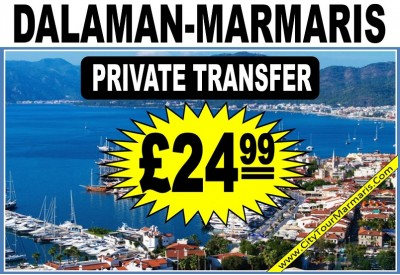 How much does a taxi cost from Dalaman Airport to Marmaris