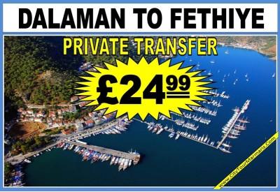 Dalaman to Fethiye Transfer