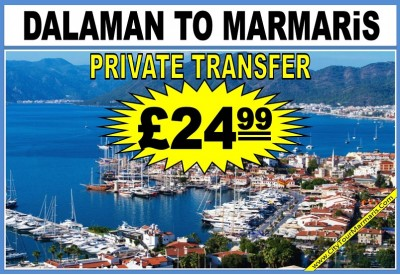 How much is taxi from Dalaman to Marmaris
