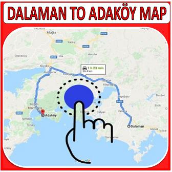 Dalaman to Adaköy Map