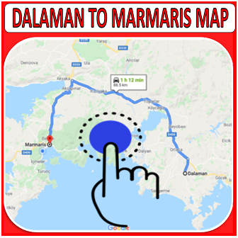 DALAMAN TO MARMARIS MAP