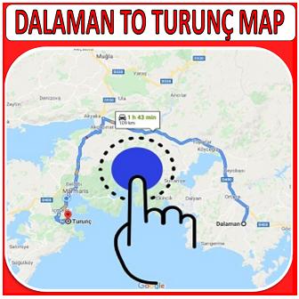 Dalaman Airport to Turunç Map
